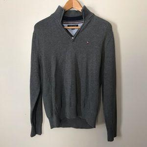 Tommy Hilfiger Half Zip Up Sweater Gray M